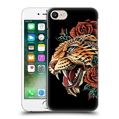 Official Bioworkz Coloured Animal Head 1 Ornate Leopard Hard Back Case For Apple Iphone 7