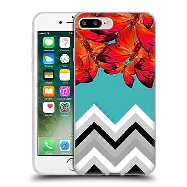 Official Mark Ashkenazi Patterns Chevron Butterflies Soft Gel Case For Apple Iphone 7 Plus