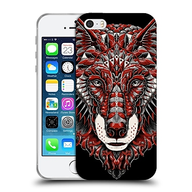 Official Bioworkz Coloured Animal Head 1 Wolf Head 1 Soft Gel Case For Apple Iphone 5 / 5S / Se