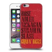 Official Guns N' Roses Vintage Names Soft Gel Case For Apple Iphone 6 / 6S