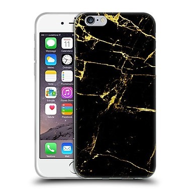 Official Haroulita Marble Black And Gold Soft Gel Case For Apple Iphone 6 / 6S