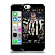 Official Newcastle United Fc Nufc Retro Badge Collection Alan Shearer Soft Gel Case For Apple Iphone 5C