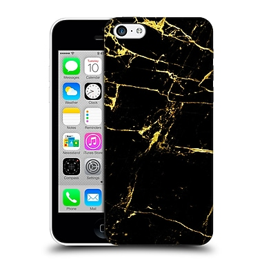 Official Haroulita Marble Black And Gold Hard Back Case For Apple Iphone 5C