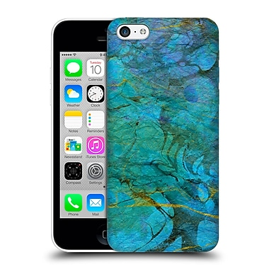 Official Haroulita Marble Blue Gold 1 Hard Back Case For Apple Iphone 5C