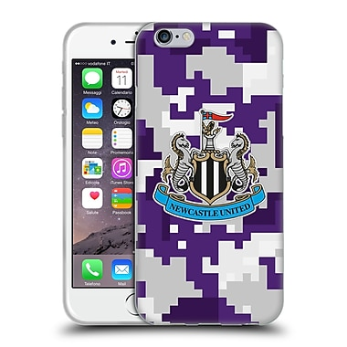 Official Newcastle United Fc Nufc 2016/17 Crest Kit Digital Camo Third Colours Soft Gel Case For Apple Iphone 6 / 6S