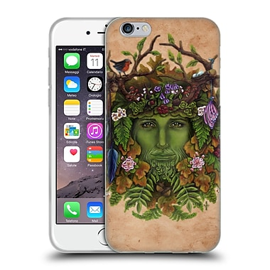 Official Brigid Ashwood Celtic Wisdom The Greenman Soft Gel Case For Apple Iphone 6 / 6S