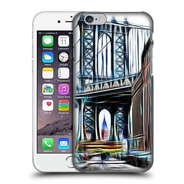 Official Haroulita Places 2 New York Brooklyn Bridge Hard Back Case For Apple Iphone 6 / 6S