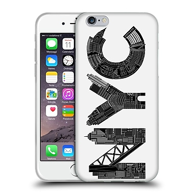 Official Robert Farkas Typography Nyc Soft Gel Case For Apple Iphone 6 / 6S