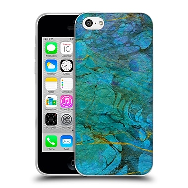 Official Haroulita Marble Blue Gold 1 Soft Gel Case For Apple Iphone 5C