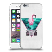 Official Robert Farkas Hipster Animals Miami Flamingo Soft Gel Case For Apple Iphone 6 / 6S