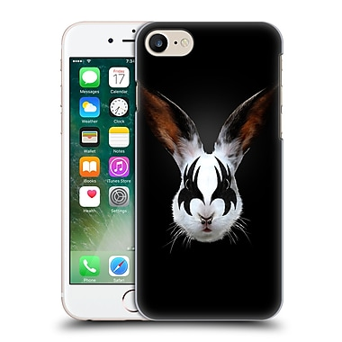 Official Robert Farkas Animals Rockstar Kiss Of A Rabbit Hard Back Case For Apple Iphone 7
