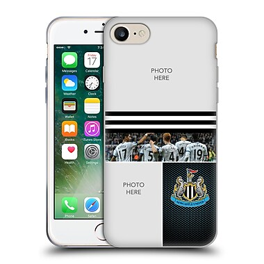 Custom Customised Personalised Newcastle United Fc Nufc 2016/17 Personalised Stripes Soft Gel Case For Apple Iphone 7