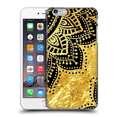 Official Haroulita Black And Gold Petals Hard Back Case For Apple Iphone 6 Plus / 6S Plus