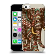 Official Bioworkz Coloured Wildlife 1 Ornate Elephant 2 Soft Gel Case For Apple Iphone 5C