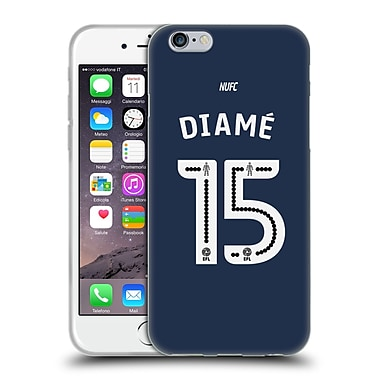 Official Newcastle United Fc Nufc 2016/17 Players Away Kit 2 Diame Soft Gel Case For Apple Iphone 6 / 6S