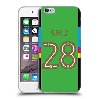 Official Newcastle United Fc Nufc 2016/17 Players Away Kit 1 Sels Soft Gel Case For Apple Iphone 6 / 6S
