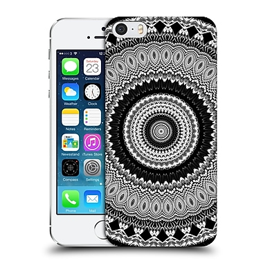 Official Haroulita Mandala 2 Black And White Feathers Hard Back Case For Apple Iphone 5 / 5S / Se