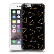 Official Haroulita Black And Gold Triangles Hard Back Case For Apple Iphone 6 / 6S
