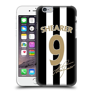Official Newcastle United Fc Nufc Retro Badge Collection Alan Shearer Signed Gold Jersey Hard Back Case For Apple Iphone 6 / 6S