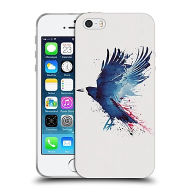 Official Robert Farkas Animals Bloody Crow Soft Gel Case For Apple Iphone 5 / 5S / Se