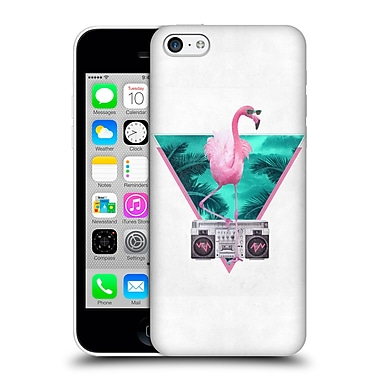 Official Robert Farkas Hipster Animals Miami Flamingo Hard Back Case For Apple Iphone 5C