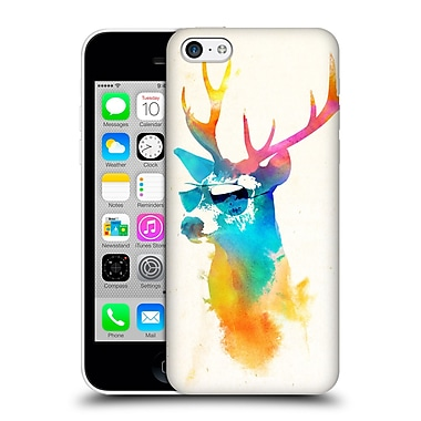 Official Robert Farkas Hipster Animals Sunny Stag Hard Back Case For Apple Iphone 5C