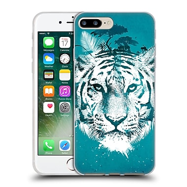 Official Robert Farkas Animals 2 White Tiger Soft Gel Case For Apple Iphone 7 Plus