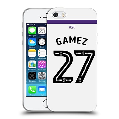 Official Newcastle United Fc Nufc 2016/17 Players Third Kit 1 Gamez Soft Gel Case For Apple Iphone 5 / 5S / Se