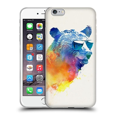 Official Robert Farkas Hipster Animals Sunny Bear Soft Gel Case For Apple Iphone 6 Plus / 6S Plus