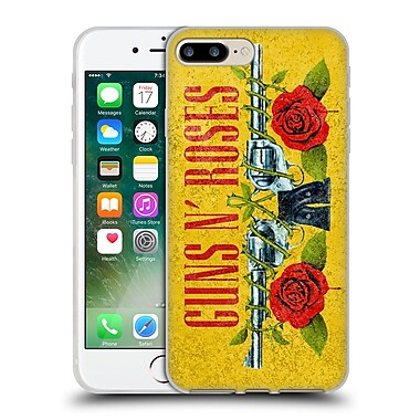Official Guns N' Roses Vintage Pistols Soft Gel Case For Apple Iphone 7 Plus
