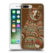 Official Bioworkz Coloured Wildlife 1 Grizzly Bear Soft Gel Case For Apple Iphone 7 Plus