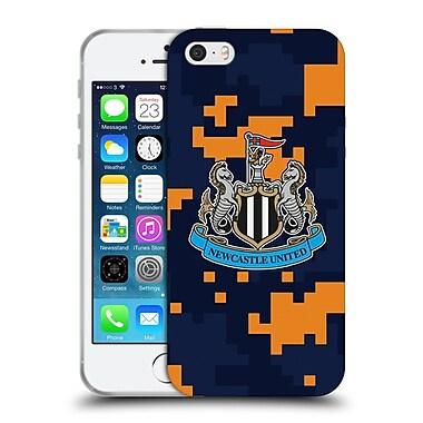 Official Newcastle United Fc Nufc 2016/17 Crest Kit Digital Camo Change Colours Soft Gel Case For Apple Iphone 5 / 5S / Se