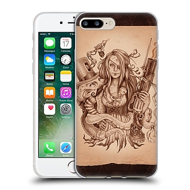 Official Brigid Ashwood Steampunk Octopus Pinup Girl 3 Soft Gel Case For Apple Iphone 7 Plus
