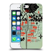 Official Robert Farkas Maps Welcome To Twin Peaks Soft Gel Case For Apple Iphone 5 / 5S / Se