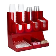 Mind Reader 'Fancy' Acrylic Jumbo Condiment Organizer, Red, (JUMBOCORG-RED)