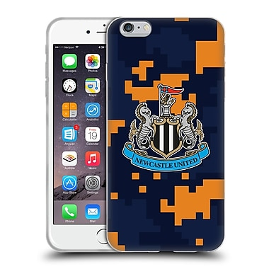 Official Newcastle United Fc Nufc 2016/17 Crest Kit Digital Camo Change Colours Soft Gel Case For Apple Iphone 6 Plus / 6S Plus