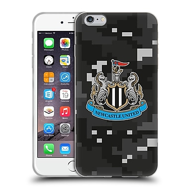Official Newcastle United Fc Nufc 2016/17 Crest Kit Digital Camo Home Colours Soft Gel Case For Apple Iphone 6 Plus / 6S Plus