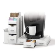 Mind Reader 'Combo' 2 Piece Drawer and Condiment Organizer, White (CMB02-WHT)
