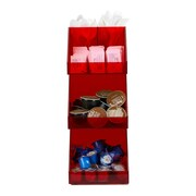 Mind Reader 'Fancy' Acrylic 3 Tier Condiment Organizer, Red, (3TCORG-RED)