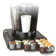 Mind Reader 'Anchor' Coffee Pod Triple Drawer 36 Capacity, Black Metal Mesh, (TRY3PCMESH-BLK)