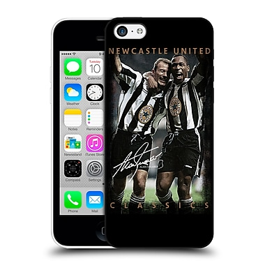 Official Newcastle United Fc Nufc Retro Badge Collection Shearer And Ferdinand Hard Back Case For Apple Iphone 5C