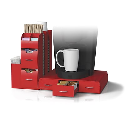 Mind Reader 'Combo' 2 Piece Drawer and Condiment Organizer, Red (CMB02-RED)
