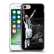 Official Newcastle United Fc Nufc Retro Badge Collection Shearer Photo Signed Soft Gel Case For Apple Iphone 7