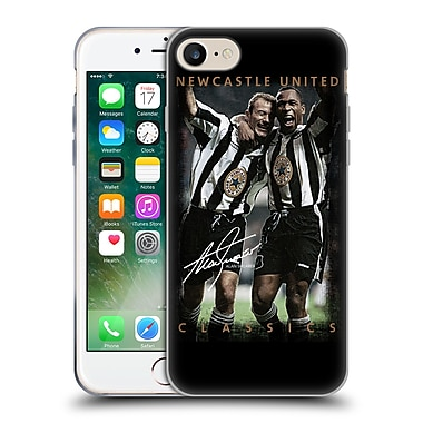 Official Newcastle United Fc Nufc Retro Badge Collection Shearer And Ferdinand Soft Gel Case For Apple Iphone 7