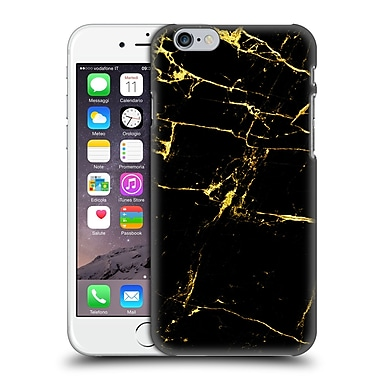 Official Haroulita Marble Black And Gold Hard Back Case For Apple Iphone 6 / 6S