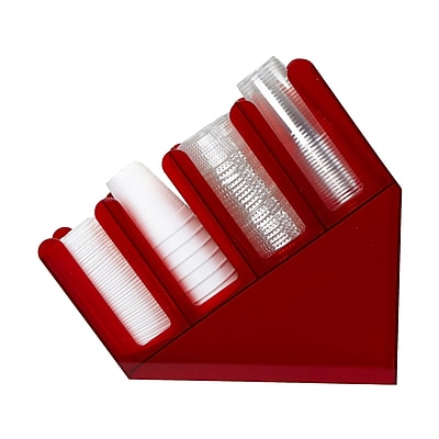 Mind Reader 'Fancy' Acrylic Cup and Lid Holder, Red, (4ACUPHOLD-RED)
