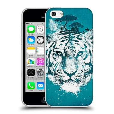 Official Robert Farkas Animals 2 White Tiger Soft Gel Case For Apple Iphone 5C