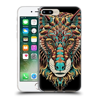 Official Bioworkz Coloured Animal Head 1 Wolf Head 2 Soft Gel Case For Apple Iphone 7 Plus
