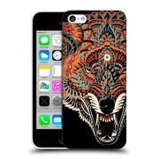 Official Bioworkz Coloured Animal Head 1 Wolf 2 Hard Back Case For Apple Iphone 5C