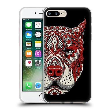Official Bioworkz Coloured Canine 1 Pitbull 1 Soft Gel Case For Apple Iphone 7 Plus